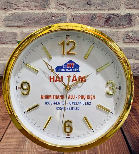 Đồng hồ quảng cáo treo tường in logo