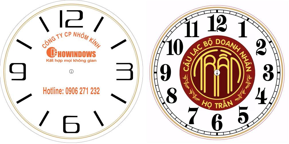 Thiết kế và sản xuất đồng hồ treo tường in logo quảng cáo theo yêu cầu
