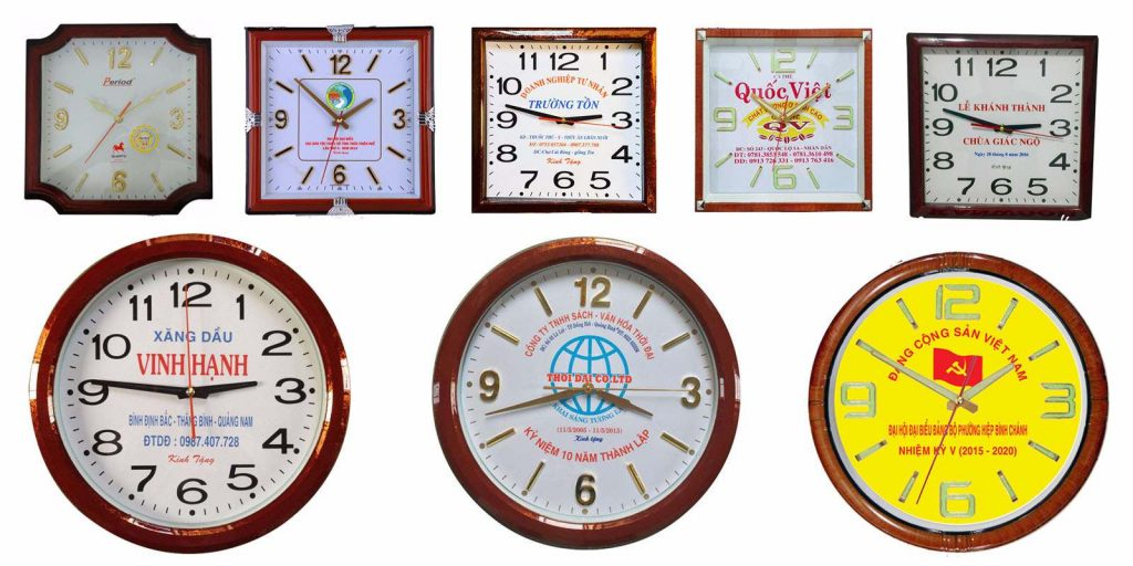 Cập nhật mẫu đồng hồ treo tường quảng cáo cao cấp năm 2021
