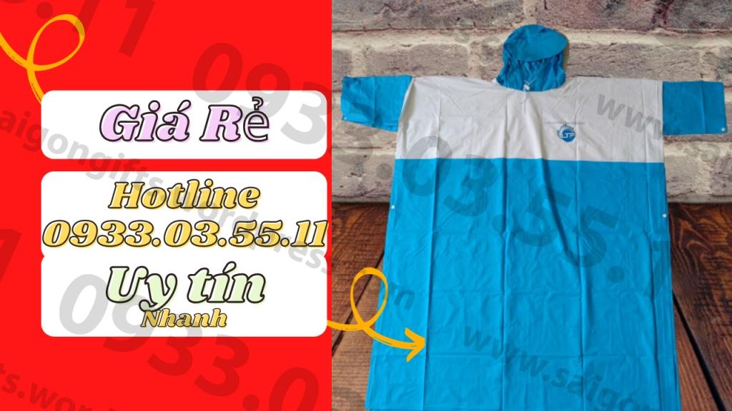 Nhận may áo mưa in logo, in áo mưa quà tặng cho doanh nghiệp, làm áo mưa in thương hiệu số 1 TP HCM