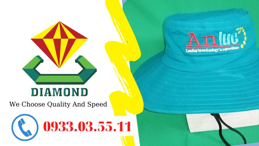Nón tai bèo thêu tên công ty An Lực, nón quà tặng giá trị An Lực gửi đến khách hàng