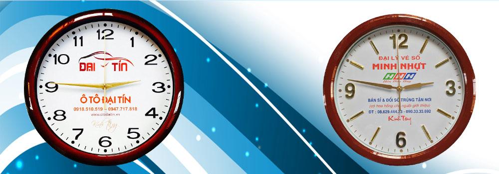 Công ty sản xuất và in đồng hồ treo tường quảng cáo không qua trung gian