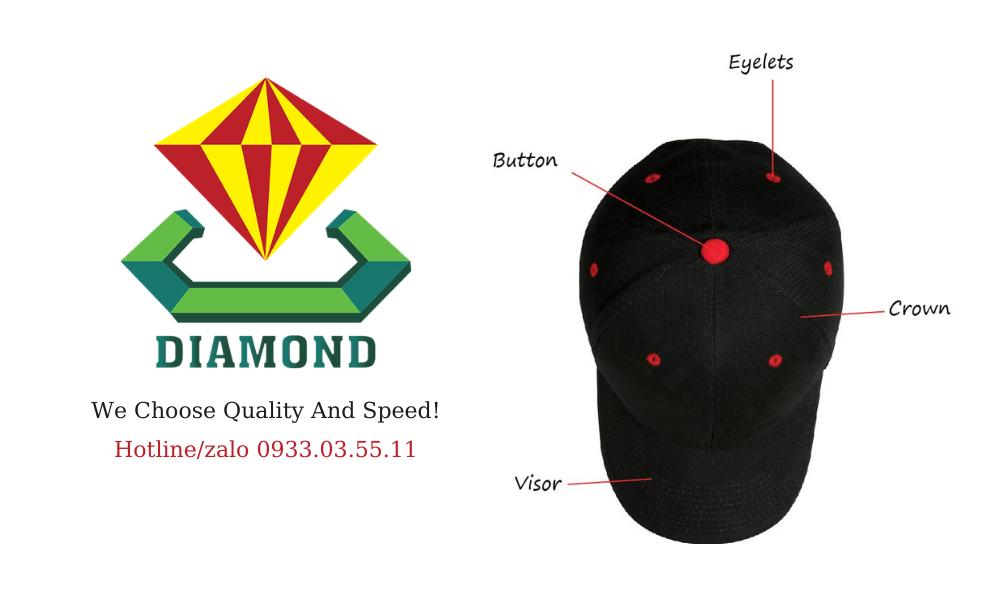 Cơ sở may nón lưỡi trai in logo, may mũ nón quảng cáo, nón quà tặng lưỡi trai thêu logo chất lượng