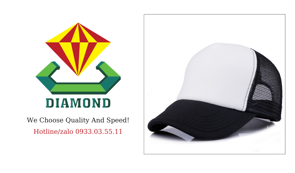 Nhận may nón lưới in logo giá rẻ, nón lưỡi trai phối lưới quà tặng chất lượng