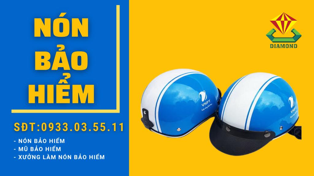 Công ty sản xuất mũ bảo hiểm in quảng cáo thương hiệu cho doanh nghiệp. Hotline 0933.03.55.11