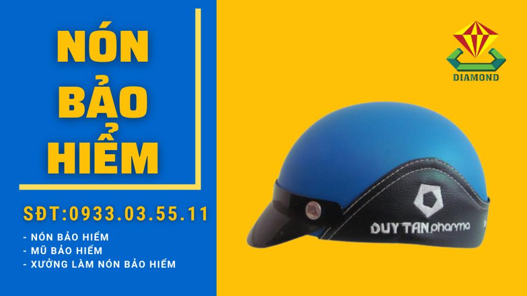 Công ty sản xuất nón bảo hiểm in logo doanh nghiệp in logo