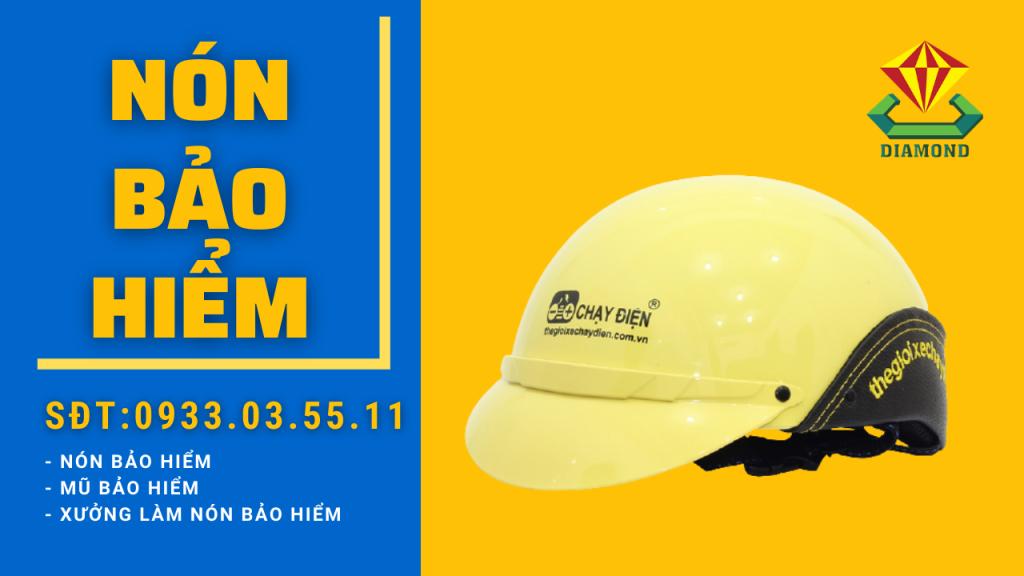 Công ty sản xuất nón bảo hiểm in hoặc thêu logo doanh nghiệp. Hotline 0933.03.5511